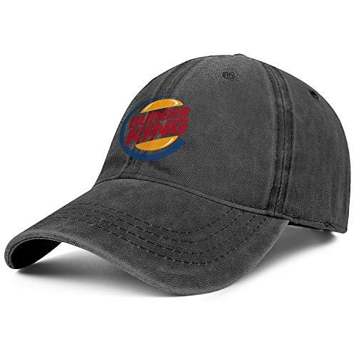 Autumn Snapback All Cotton Cap Flat Hats Adjustable Fits Stylish Hat Burger King, Burger King-4, One Size