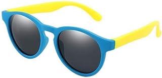 UKKD - Gafas de sol hombre Colorido Flexible Niños Gafas de sol Polarizadas Niños Niñas Redondo Gafas de Sol Niño Gafas de Silicona Gafas Uv400