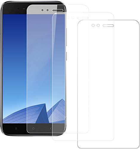 Snnisttek Película Protectora para Xiaomi Mi A1, 3-Unidades Película de lente transparente Xiaomi Mi A1, Alta Definicion, Vidrio Templado, 9H Dureza, Sin Burbujas Anti-Arañazos