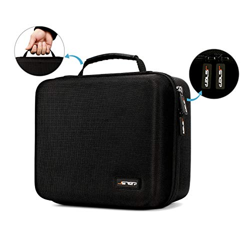 Oculus Go Case JSVER Hard Carrying Case for Oculus Go/Oculus Quest/Samsung Gear Virtual Reality and Headset Gamepad Game Controller Kit, Oculus Quest Case (Black)