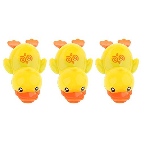 Sharplace 3 Cute Wind Up Swimming Yellow Duck Baby Toddler Bañera Baño Jugar Juguete