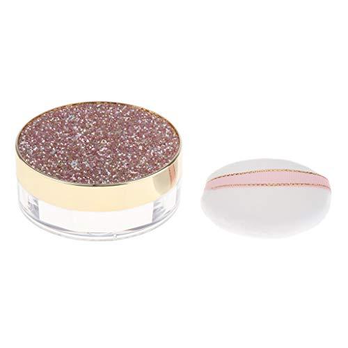 10g Récipient Vide Rechargeables Diy Maquillage Pot Cosmétique Poudre Libre Cas avec Miroir - café