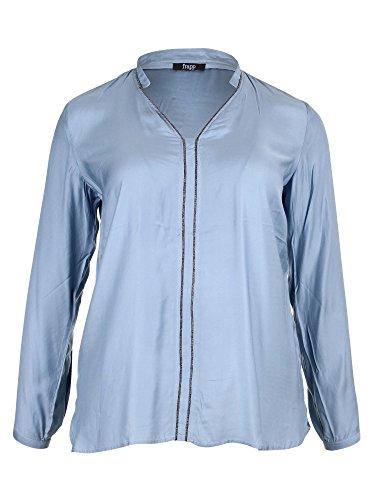 Frapp Damen Langarm Stehkragen UND SCHMÜCKUNG Bluse, Blau (Winter Sky 854), (Herstellergröße: 46)