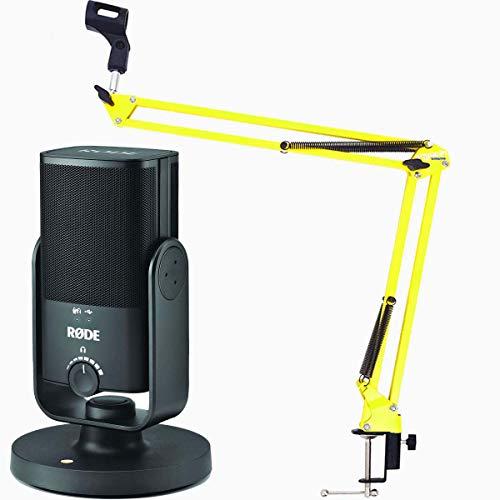 Rode NT-USB Mini - Microfono a condensatore USB + Keepdrum NB35 YW giallo braccio microfono