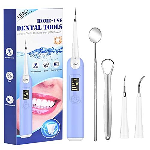limpieza dental, Limpieza Dental Cepillos Dentales, Limpieza de los Dientes Bucal Limpiador con 2 Modos de Cepillado, 1 Recambio Cabezales kit Limpieza Dental 3 in 1