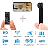 Hidden Spy Camera,1080P HD WiFi Mini Camera Portable Wireless Security Cameras Video Recorder IP Cameras Nanny Cam with DIY Interchangeable Lens/Motion Detection for Home Monitoring(New APP)