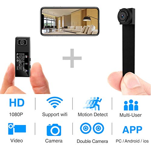 Check Out This Hidden Spy Camera,1080P WiFi Mini Camera Portable Wireless Security Cameras Video Rec...