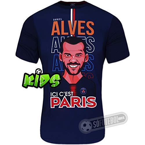 Camiseta PSG (Paris Saint Germain) - DANI ALVES Infantil