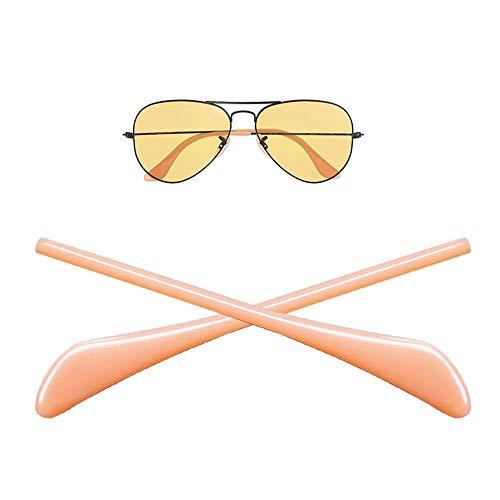 HEYDEYFO RAY BAN 1ペア 眼鏡テンプル 先端ヒント 耳ソックスチューブ 交換用 補修チューブ サングラス 耳サックチューブ サングラス Ray-Ban (レイバン) Aviator RB3025 (ヌード) サングラスバッグ付き