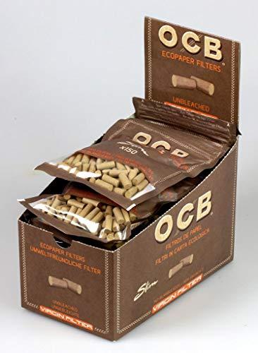 OCB 9200 Virgin Filter - Caja con 10 Bolsas de filtros Finos (150 Unidades, 6 mm, Respetuoso con el Medio Ambiente)