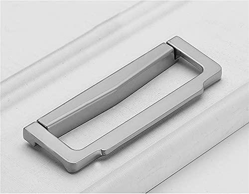 YSWG Gabinete Tira de Barras manijas de Barra de 4 Piezas Mango de gabinete de Zinc aleación Invisible manija Oculta Horizontal gabinete de Cocina Hardware cajón manejador tirón (Size : 102mm)