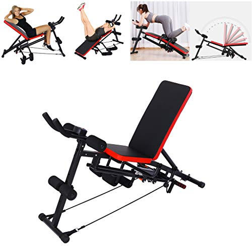 Home Gym Adjustable Weight Bench Workout Bench Mosunx Adjustable Sit Up Incline Abs Benchs Flat Fly Weight Press Fitness Adjustable Set A Black