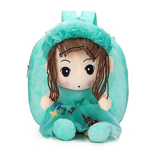 Cute Girls School Bags Toddler Backpack Kawaii Kindergarten Book Bag Baby Schoolbag Mochila Infantil BGreen