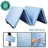 CCLIFE 200x100x5cm Bleu Clair Tapis de Gymnastique Epais - Matelas Gymnastique -...