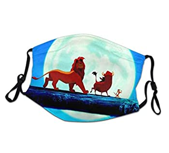 Dis-ney Cartoon Collection Adjustable Washable Reusable cover Face_Masks For kids children  The-Lion-King