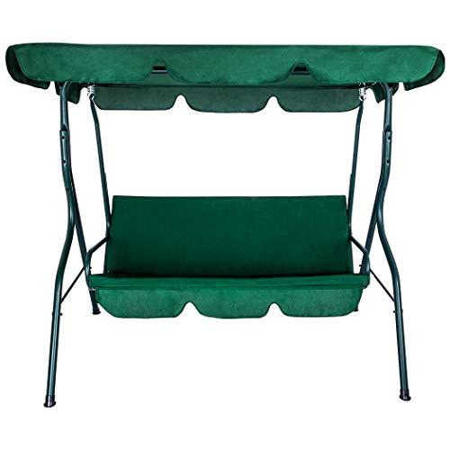 Fencelly Silla de columpio para patio al aire libre con toldo ajustable y cojín extraíble, silla de salón para jardín al aire libre