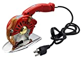 Hercules HRK-100 & RK-BAT-100 5-Speed Electric Rotary Cutters for Cloth, Leather, Natural and Synthetic Fabrics – 4 Inch Single & Multi-Layer Round Knife Cutting Machines (110 Volt AC (Corded))