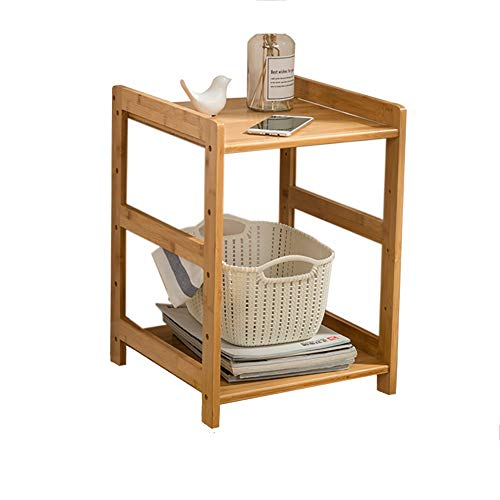 Peaceip Log Log Bamboo DIY Assemblage Amovible Salon Chevet Armoire Nordic Mini Sofa Coin Table Basse Stockage Rack (Taille : 2 Layers 40 * 38 * 50cm)