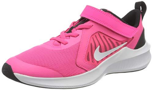 Nike Downshifter 10 (PSV), Running Shoe, Hyper Pink/White-Black, 31.5 EU