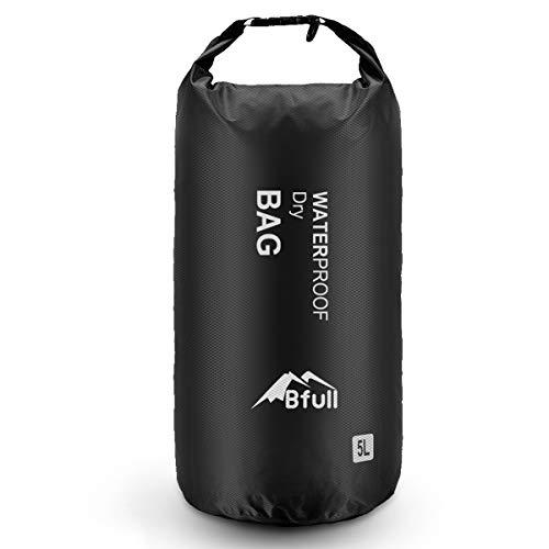 Bfull Dry Bag Wassertasche Packsack 5L/10L/20L/30L Ultra-Light Trockensack mit 2 Außentasche mit Reißverschluss Warerproof Sack mit Lang Verstellbarer Schultergurt für Boot und Kajak Wassersport