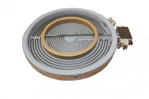 EGO 10.51213.034 HiLight - Radiador de dos círculos (210 mm, 2200/750 W, compatible con Bosch / Siemens 356260)
