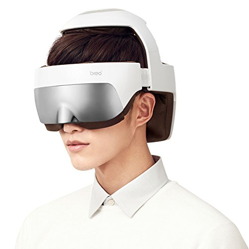 Breo iDream5 Head Massager, Rechargeable Eye Massager 2-in-1 Electric...