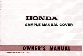 3117601 1980 Honda XR80 Motorcycle Owners Manual