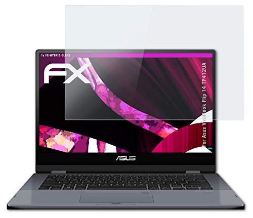 atFolix Glasfolie kompatibel mit Asus VivoBook Flip 14 TP412UA Panzerfolie, 9H Hybrid-Glass FX Schutzpanzer Folie
