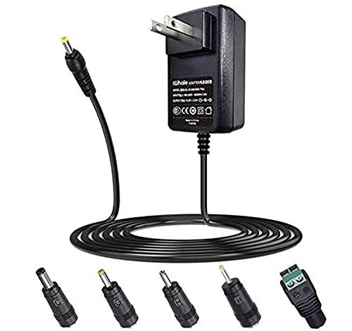 12V 2A ACアダプター 5.5*2.1mm 1.5m 5種DCプラグ (5.5 * 2.5mm/4.0 * 1.7mm / 3.5 * 1.35mm/2.5*0.7mm / LED接続) 無線ルータ,防犯カメラ,スピーカー,扇風機,LEDディスプレイ,防犯録画機,USBハブ,HDD,TVボックス 1年保証