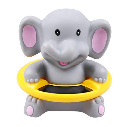 TOYANDONA Wanne Thermometer Elefant Bad Thermometer Schwimmende Tier Alarm Spielzeug Schwimmbad Thermometer für Zuhause Grau