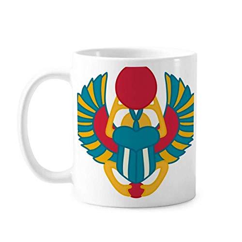 Taza de cerámica con diseño abstracto de Escarabajo de Egi