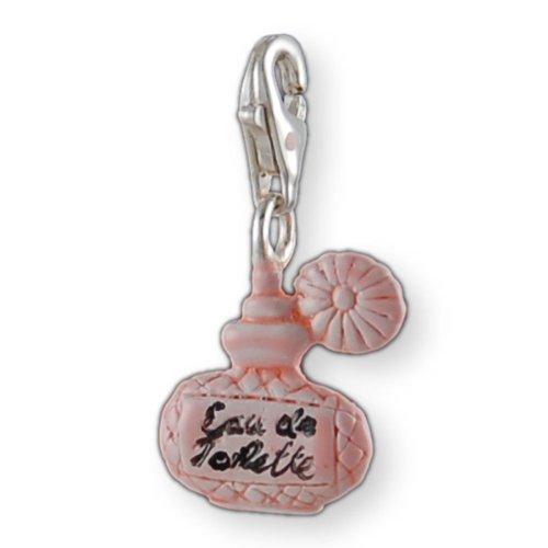 Melina Damen-Charm Anhänger Eau de Toilette Parfümflasche Emaille 925 Sterling Silber 1800061