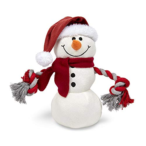 Petface Christmas Traditional Snowman Dog Toy