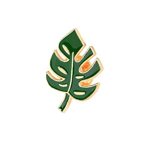 Chaquetas de dibujos animados, suéter, bolsa, alfileres, planta verde, árbol, hoja, broche, insignia de metal, accesorios de pareja, regalo, 1,7 * 2,6 cm