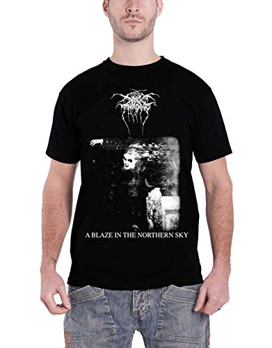 Darkthrone A Blaze In The Northern Sky offiziell Herren Nue Schwarz T Shirt