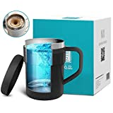 Self Stirring Coffee Mug - Self Stirring, Stainless Steel Self Mixing Cup for Coffee/Tea/Hot Chocolate/Milk Mug,Best for Office,Kitchen,Travel,Home (Black)