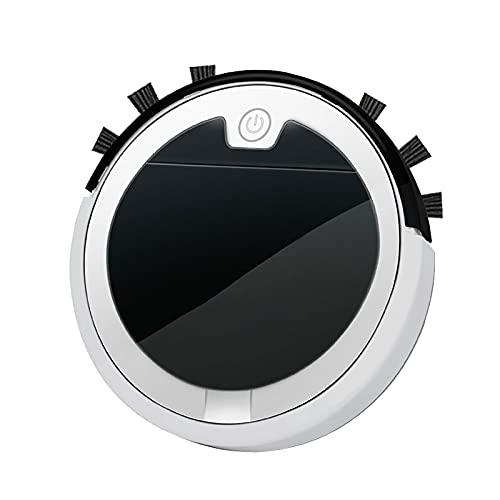 Aspirapolvere Robot Spazzante Intelligente, Robot Spazzante Aspirapolvere USB Multifunzione (Bianco)