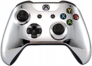 Xbox One Wireless Controller for Microsoft Xbox One - Custom Soft Touch Feel - Custom Xbox One Controller (Silver Chrome)