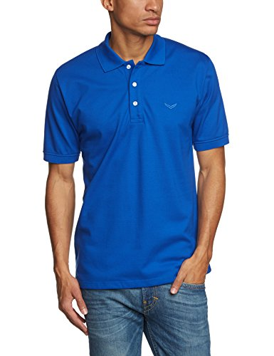 Trigema Polo-Shirt Piqué-Qualität - 621601_049_XL - Polo - Homme - Bleu (Royal) - X-Large (Taille fabricant: XL)