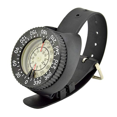 Reloj de Brújula de Buceo, Brújula de Muñeca, Brújula de Correa Impermeable en Tamaño Mini para Bucear con Libertad Buceo Pesca Actividades Al Aire Libre y Snorkel Kayak Canoa