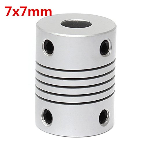 EsportsMJJ 7mm x 7mm Aluminium Flexibele askoppeling OD19mm x L25mm CNC Stepper Motor Coupler Connector