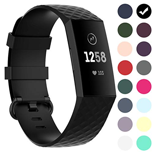 GVFM Waterproof Bands for Fitbit Charge 3/ Fitbit Charge 4/ Charge3 SE, Replacement Wristbands for Women Men Small Large (L: for 7.1