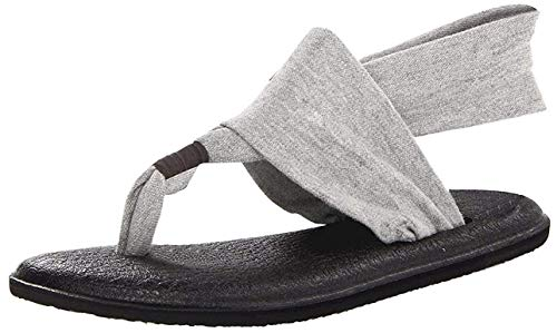 Sanuk Women's Yoga Sling 2 Flip Flop (7 B(M) US, Gray)