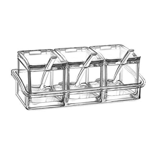 Especiero Acrílico condimento Spice Box Jar condimentos conjunto Cruet Suministros Botella de cocina Almacenamiento de cocina, almacenamiento de especi (Size : B)