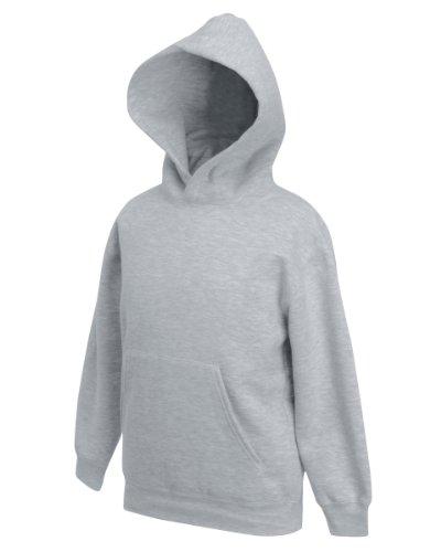Fruit Of The Loom Kids Childrens Hoodie Hooded Sweatshirt Heather Grey 9 11 Years