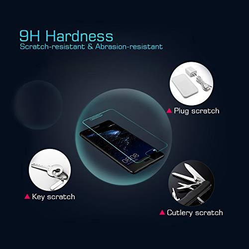 wsky Panzerglasfolie für Huawei P10, 9H Härte Displayschutzfolie, Anti-Öl, Blasenfrei, Anti-Kratz, Hohe Transparenz Schutzfolie für Huawei P10 [3 Stück] - 3