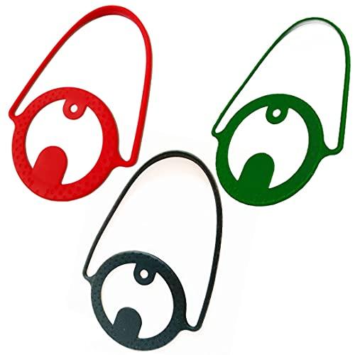 スタートサイド (startside) ドリンクカップホルダー シリコン製 ストロー ホルダー付き (黒/緑/赤3点セット)