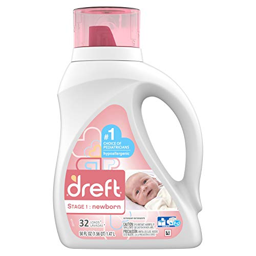 Image of Dreft Stage 1: Newborn Liquid Detergent (HEC): 50oz 32 Loads (Packaging May Vary)
