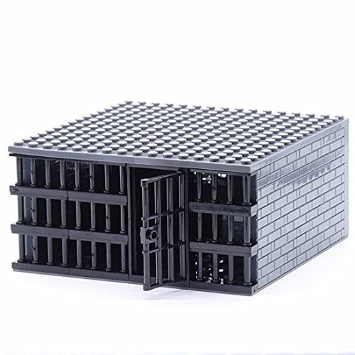 Bloques de construcción de escenas de juegos - modelo de prisión, para niños y adultos, compatibles con Lego