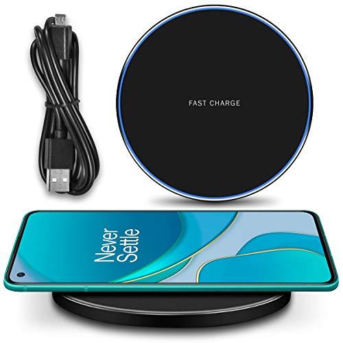 UC-Express QI Wireless Ladestation kompatibel für OnePlus 8T / 8 Pro Kabellos Charger Induktives Universal Schnellladegerät, Farbe:Schwarz